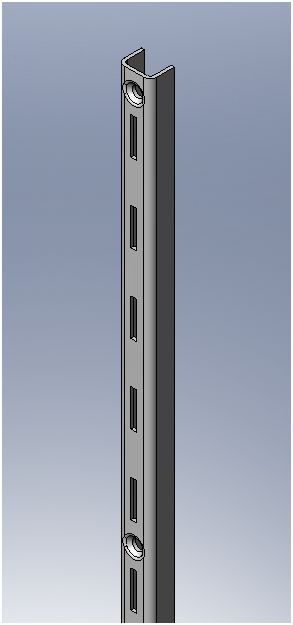 Shelvit Single Slot Wall Stripping - 2100mm