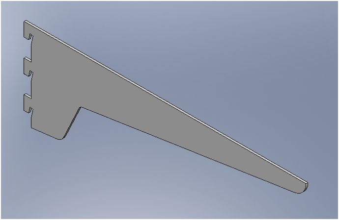 Standard 3 Lug Shelvit Bracket - 450mm
