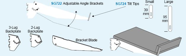 Shelvit Adjustable Angle Bracket - 400mm