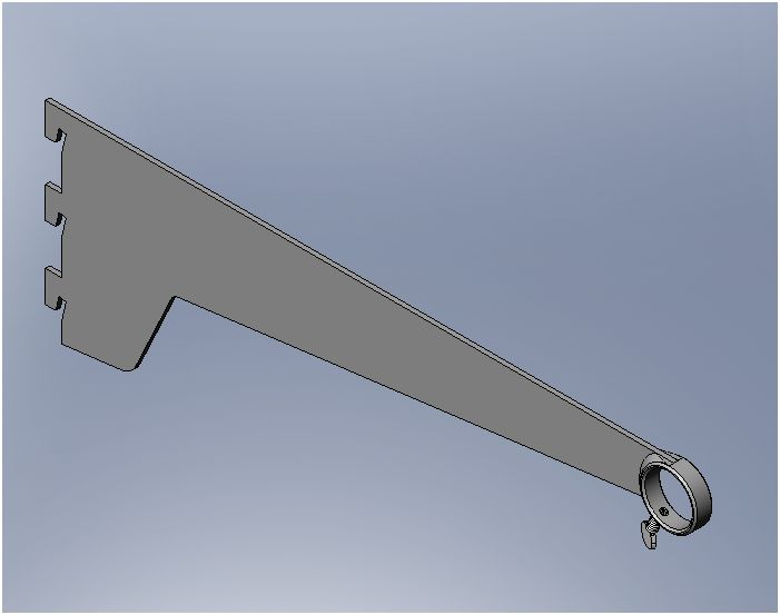 Shelvit Hang Rail (Ring) Bracket - 280mm